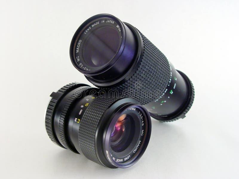 2 obiektyw odosobnione makro fotografia stock