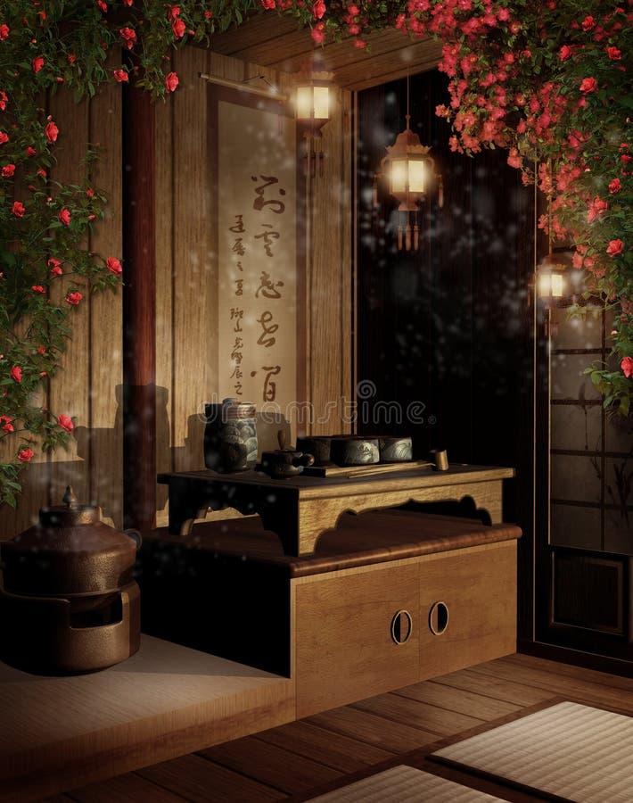 2 Oriental teahouse royalty ilustracja