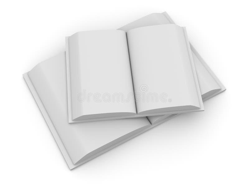2 otwarta książka royalty ilustracja