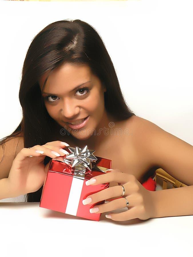 2 otwierania prezentów obraz stock