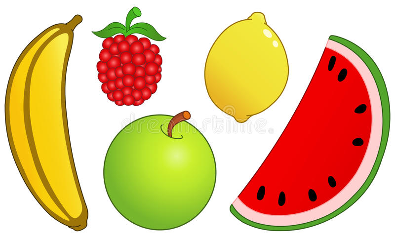 2 owocowy set royalty ilustracja