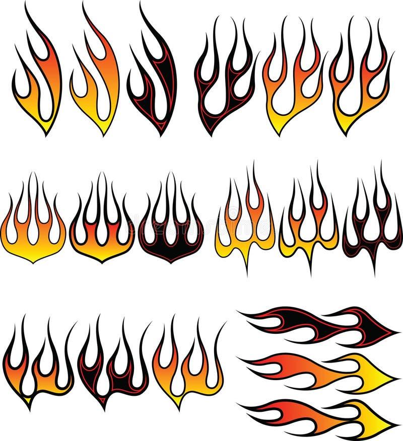 2 płomienia royalty ilustracja