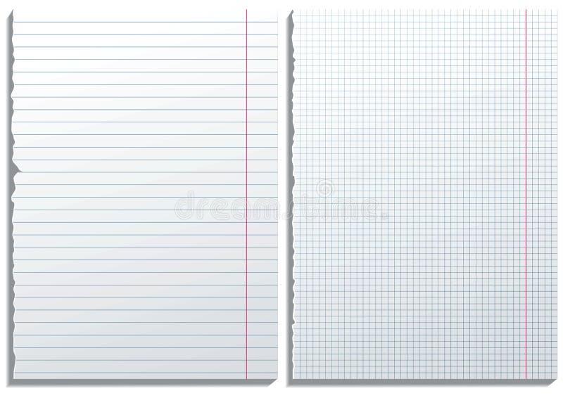 2 paginaciones de papel ilustración del vector