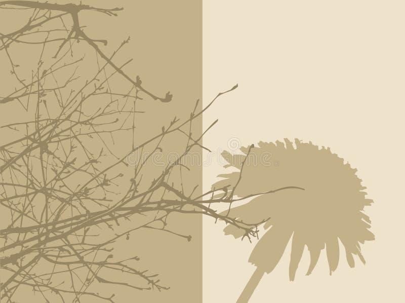 2 panneaux de feuillage illustration de vecteur