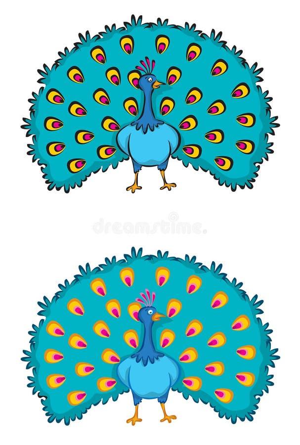 2 paons illustration stock