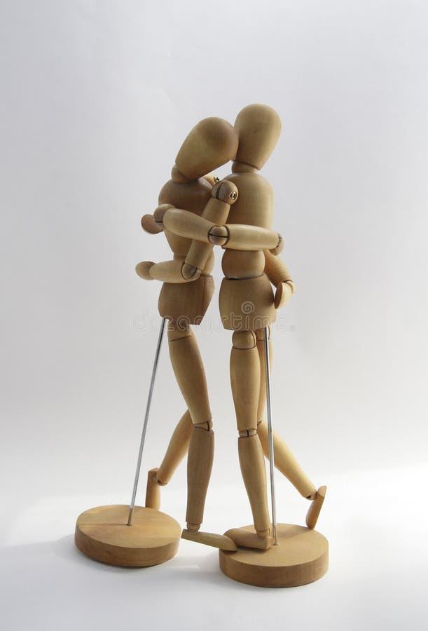 2 Par Czułość Drewniana Obrazy Stock