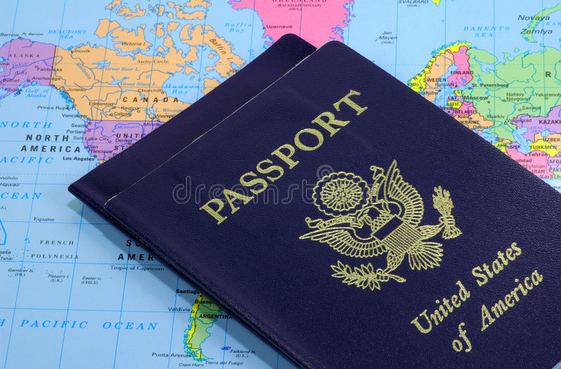 2 paszportu zdjęcia royalty free