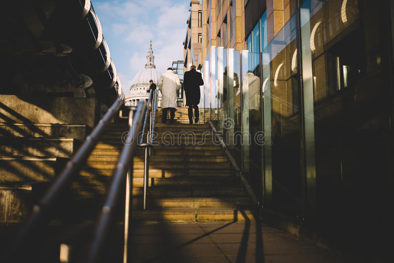 2 People Walking Up On Stairs Free Public Domain Cc0 Image