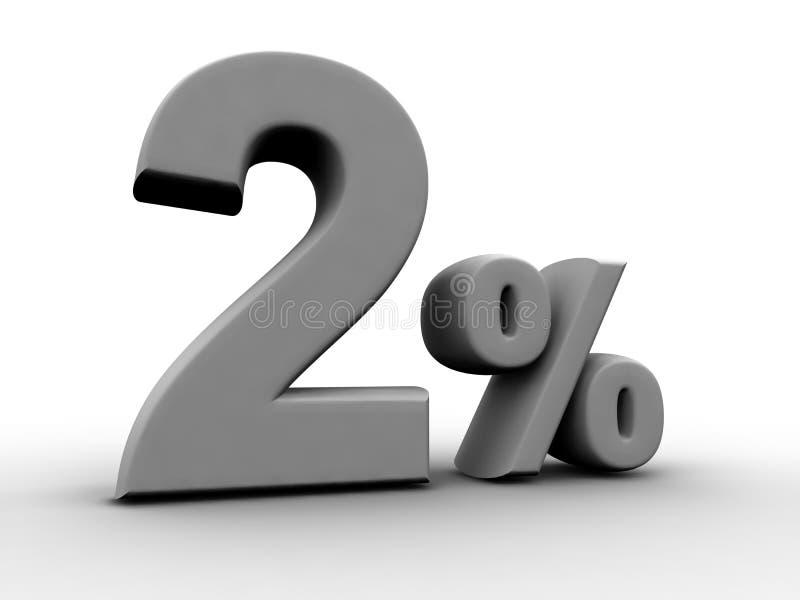2 per cento illustrazione di stock