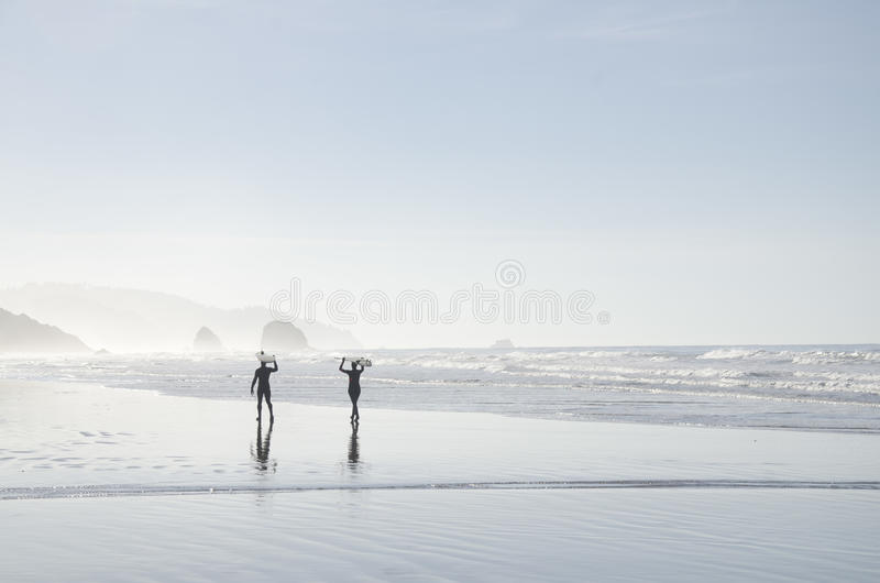 2 Person Holding Surfboard Walking Near Beach Free Public Domain Cc0 Image