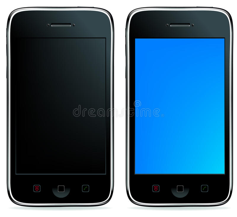 2 Phones or iPhones. Vector vector illustration
