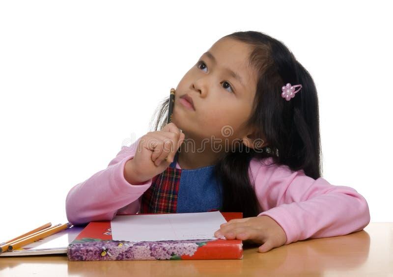 2 piśmie młode dziewczyny zdjęcia royalty free