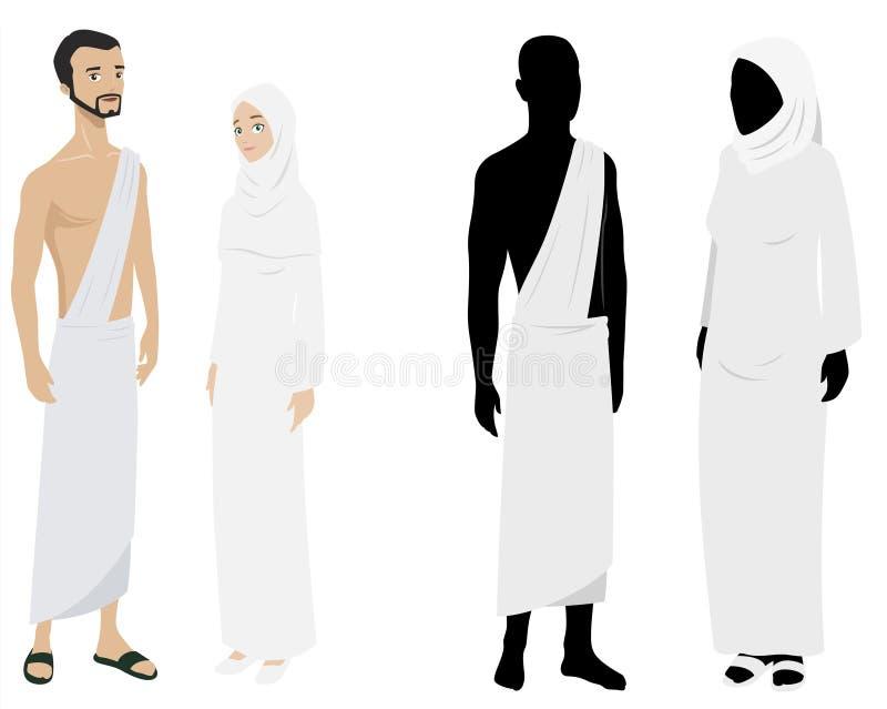 2 pielgrzyma royalty ilustracja