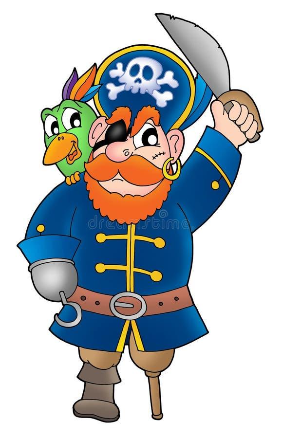 2 pirat papuzi ilustracji