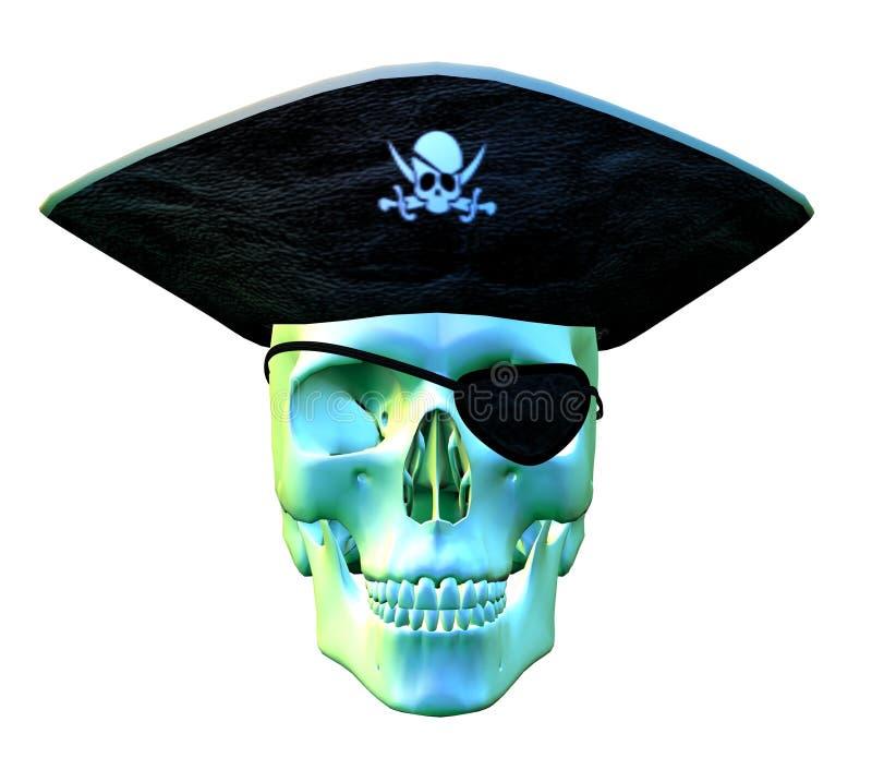 2 piratkopierar skallen vektor illustrationer
