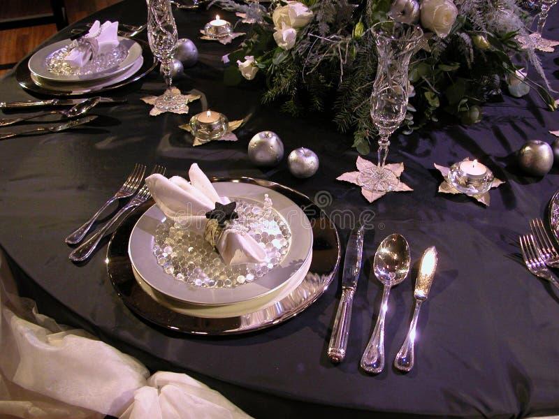 2 położenie świąteczny stół zdjęcie stock