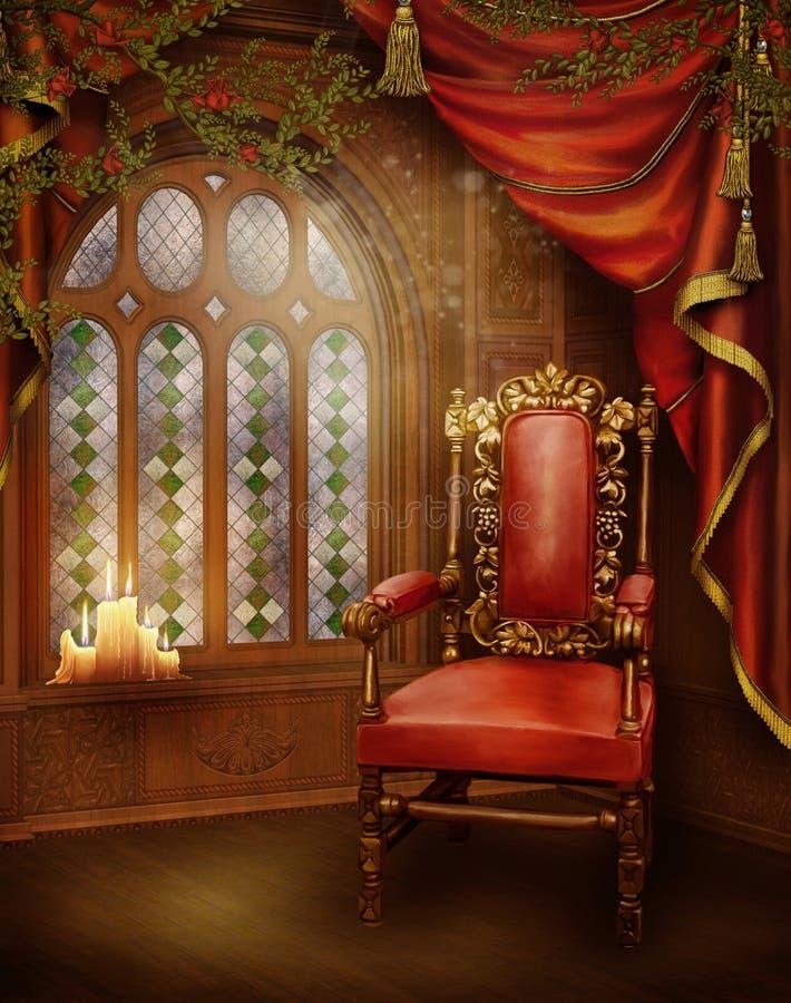 2 pokojów rocznik royalty ilustracja