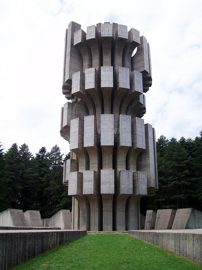 2 pomników wojny świat zdjęcie royalty free