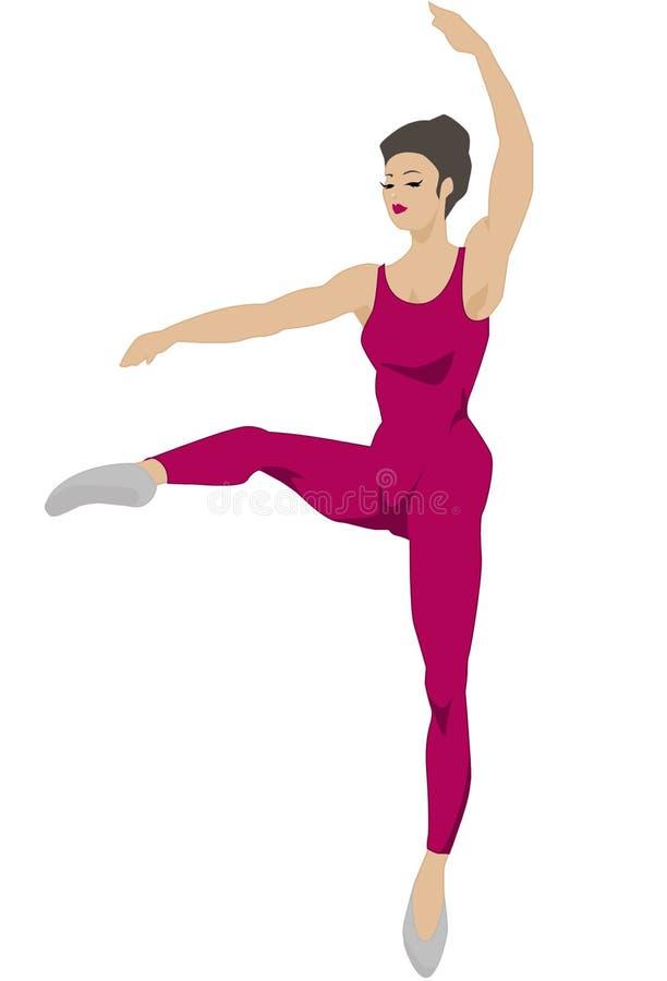 2 postawa taniec czerwonym serii ilustracja wektor