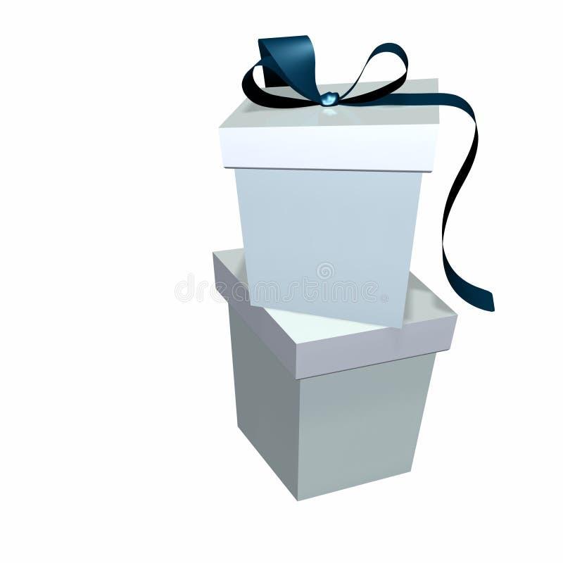 2 prezentu sterta pudeł ilustracja wektor