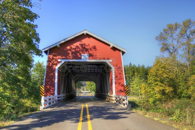 2 przerzucają most Oregon zakrywającego shimanek obrazy stock