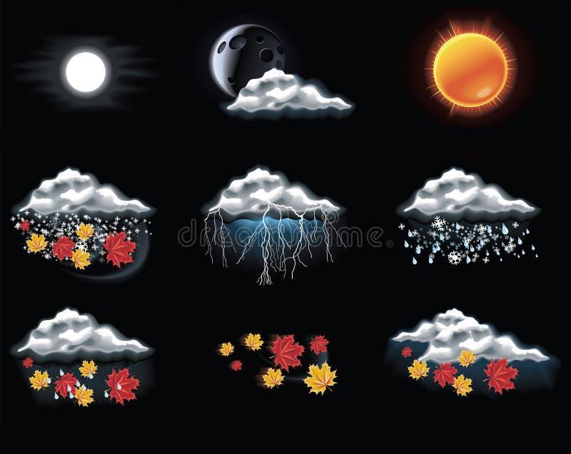 2 przewidują ikon część wektoru pogodę royalty ilustracja