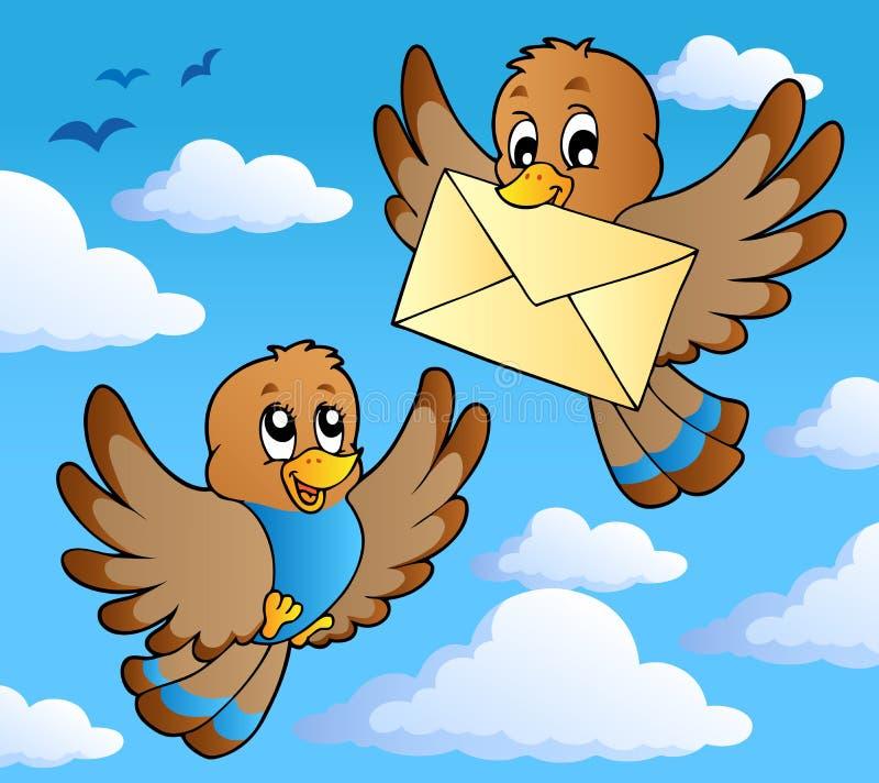 2 ptaków wizerunku temat ilustracji