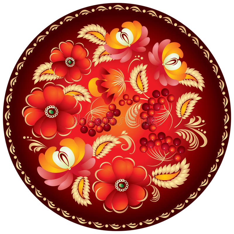 2 rękodzieła ornamentu rosjanin royalty ilustracja