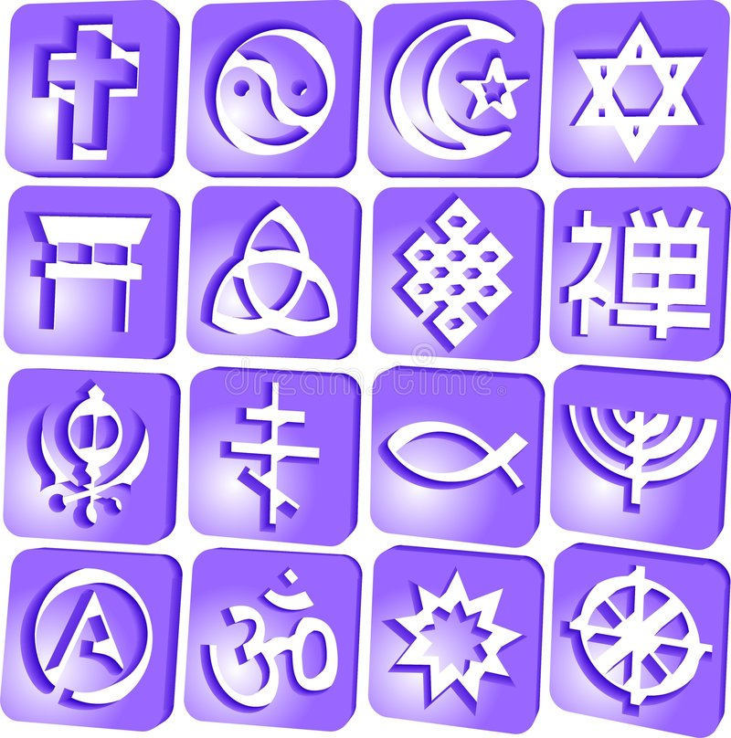 2 religiosos ilustração stock