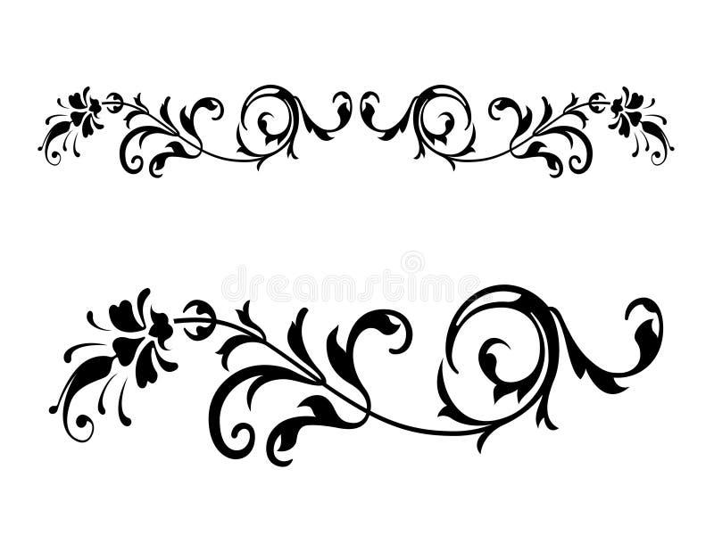 2 renesansu kwiecisty wektora ilustracja wektor