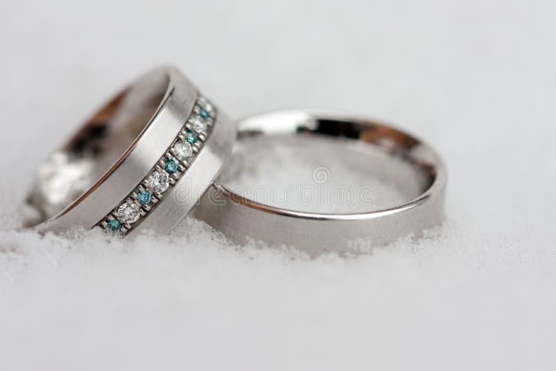 2 ringowy ślub zdjęcia royalty free