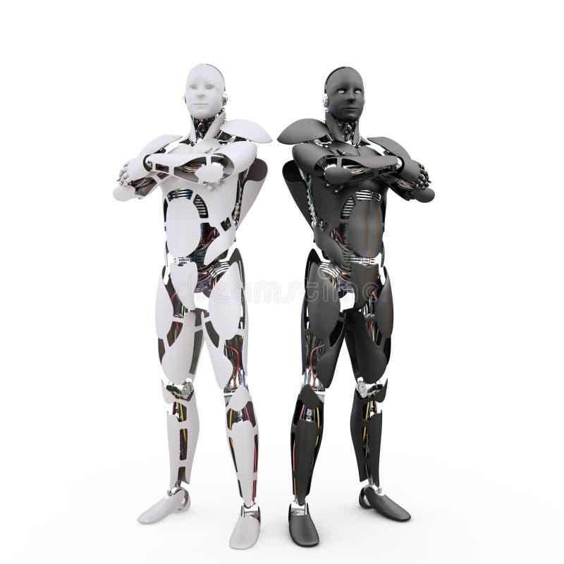 2 robots stock illustratie