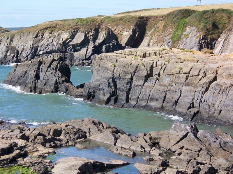2 rocky brzegowego zdjęcia royalty free
