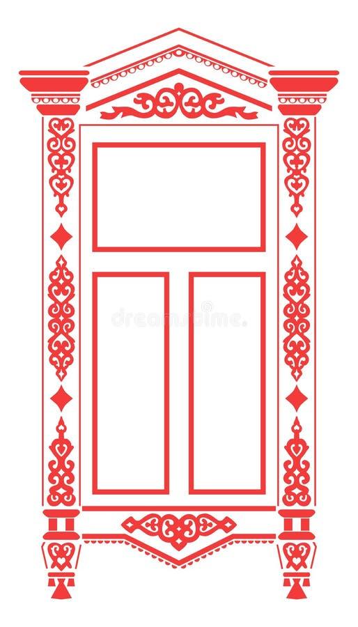 2 rosyjski tradycyjny okno royalty ilustracja