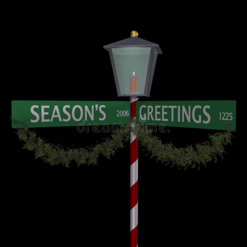 2 s powitań sezonu znaku street royalty ilustracja