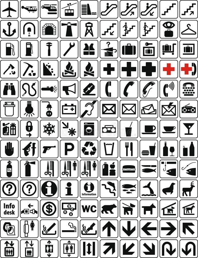 2 samlingstecken stock illustrationer