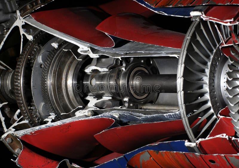 2 samolotów turbiny obraz royalty free
