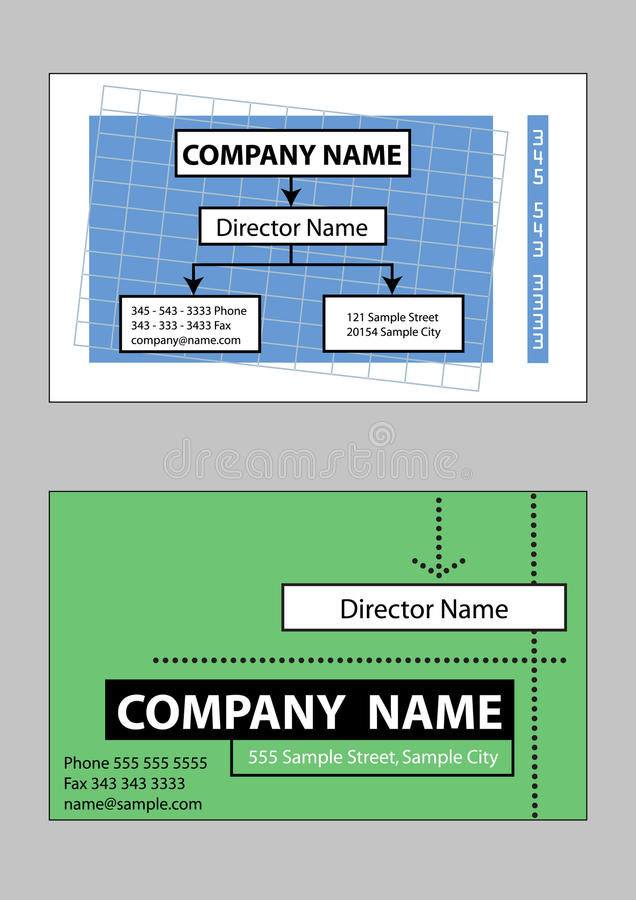 2 Samples Of Business Card Design Royalty Free Stock Images