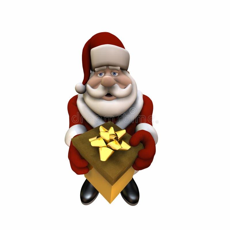 2 Santa odosobnione prezent ilustracji