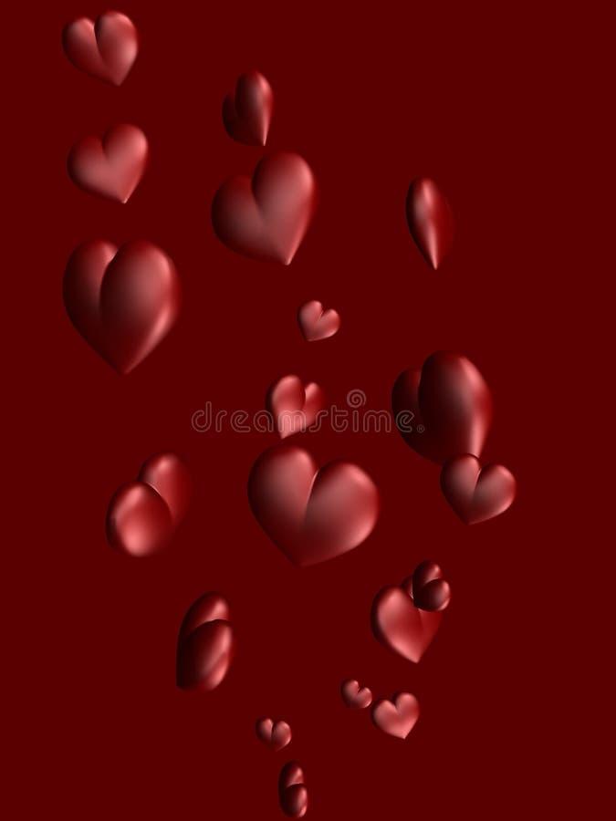 2 serca ilustracji