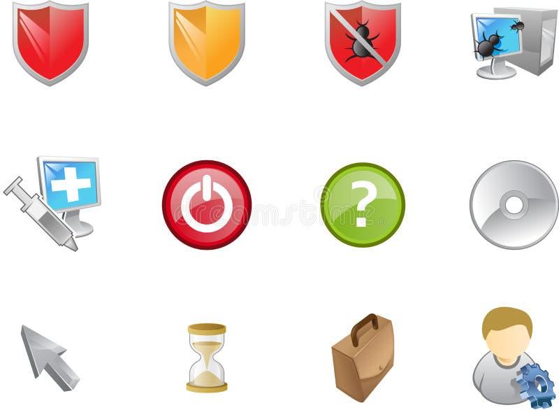 2 serii ikon varico sieci ilustracji