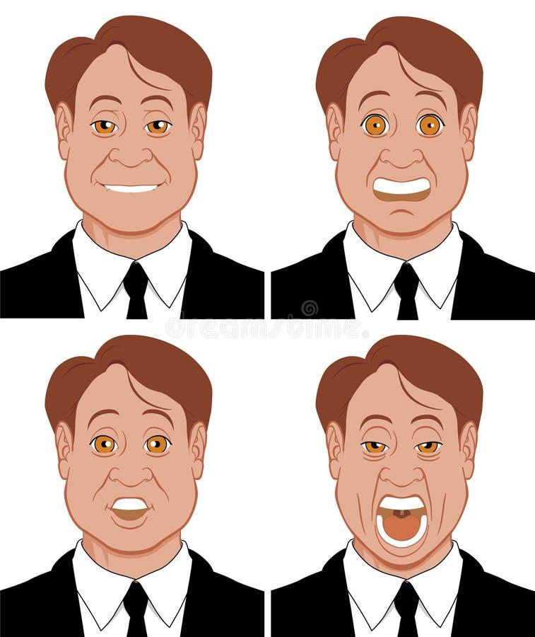 2 sinnesrörelser stock illustrationer