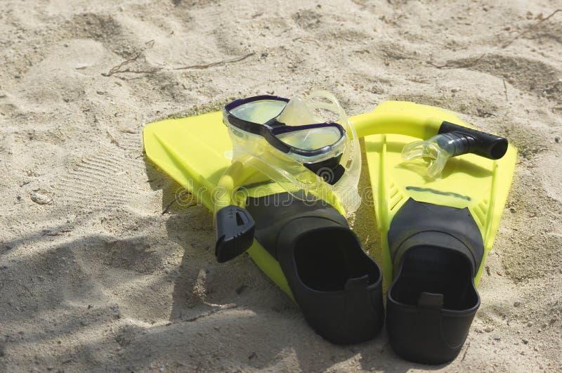 2 snorkling的齿轮 免版税库存图片
