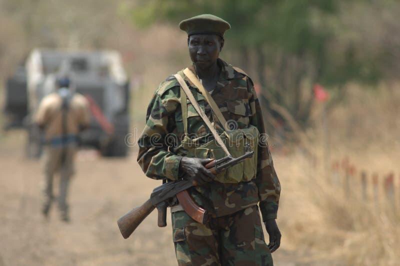 2 soldatsudanese arkivbild