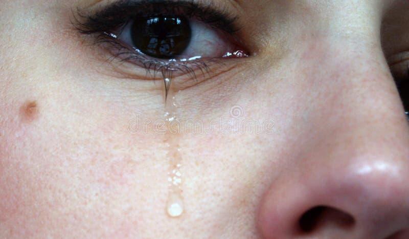 2 som gråter royaltyfria foton
