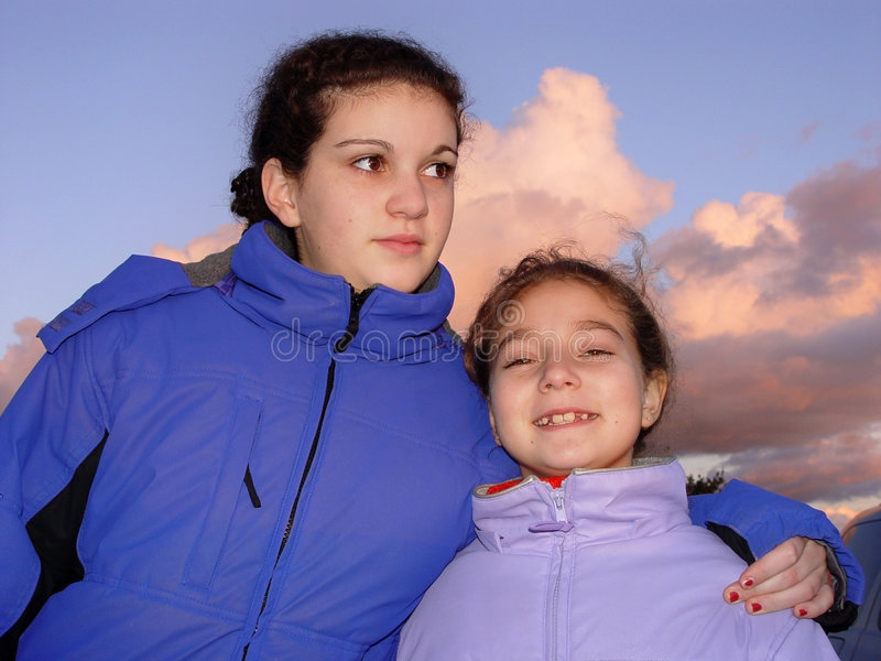 2 sorelle fotografie stock