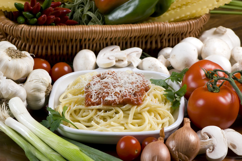 2 spaghetti fotografia stock