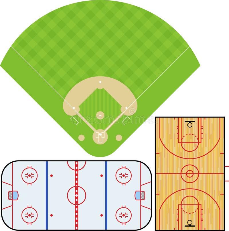 2 sportsfields ilustracja wektor