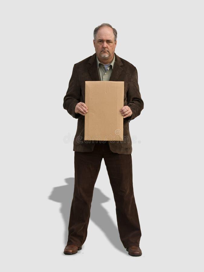 2 stary mężczyzna target81_1_ znak obraz stock
