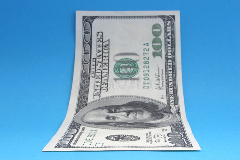 2 sto dolarów jeden list obrazy stock